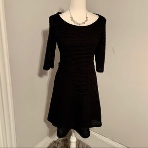 Sophie Max Black Fit and Flare Dress. Size M